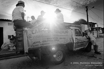 "Picture of NGO Emmaus workers in Brazil who help build shelters for the homeless.  © 2002, Matthieu Alexandre; part of FreePhotoCourse.com's ""Photographer Profiles"" series; DO NOT COPY – IP Address recorded - all rights reserved."