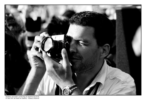 Picture of Matthieu Alexandre, professional photojournalist.  Featured in FreePhotoCourse.com 'Photographer Profile' series on professional photographers that make a difference. Photo Credit: © Vianney Prouvost; all rights reserved.