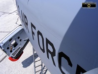 Top view picture of a US Air Force KC-135 Stratotanker refuelling jet.© 2011, FreePhotoCourse.com, all rights reserved.  Free high-res desktop wallpapers and pictures.