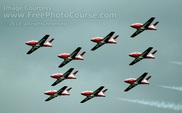 Picture of the Canadian Snowbirds Acrobatic Air Team.  For more great free wallpapers and pictures, visit www.FreePhotoCourse.com