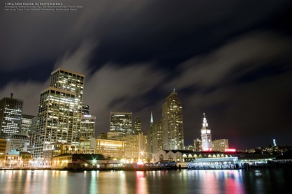 Beautiful night picture of San Francisco waterfront.  Part of FreePhotoCourse.com's