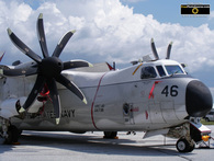 Picture of a US Navy Hurricane Hunter Airplane; Grumman C2. © 2011, FreePhotoCourse.com, all rights reserved.  Free high-res desktop wallpapers and pictures.