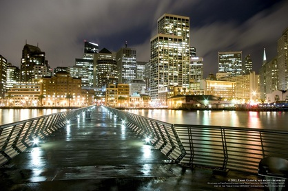 Artistic picture of pier, San Francisco waterfront. Part of FreePhotoCourse.com's