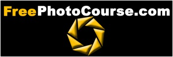 http://www.FreePhotoCourse.com  logo -  photography website with free digital photography tips, lessons, how-to's, photo blog, photo forum and more.