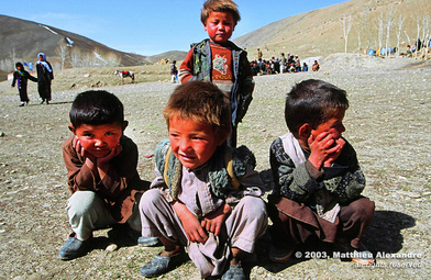 "Picture of young Hazara children living in Aghanistan.  © 2003, Matthieu Alexandre; part of FreePhotoCourse.com's ""Photographer Profiles"" series; DO NOT COPY – IP Address recorded - all rights reserved."