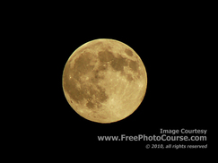 Picture of a Full Moon, Copper Moon,© 2010, FreePhotoCourse.com  -  free digital pictures, computer desktop backgrounds, free online photography tips