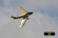 Picture of a CL-13 Sabre, Golden Hawks. © 2011, FreePhotoCourse.com, all rights reserved.  Free high-res desktop wallpapers and pictures.