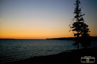 Picture of a stunning sunset over Lake Superior. Download free pictures and wallpapers.  © 2011, FreePhotoCourse.com, all rights reserved.