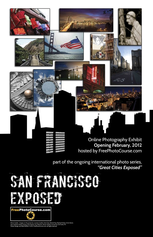 San Francisco EXPOSED Poster Commemorating A New Online Artistic Photography Exhibit Part Of The