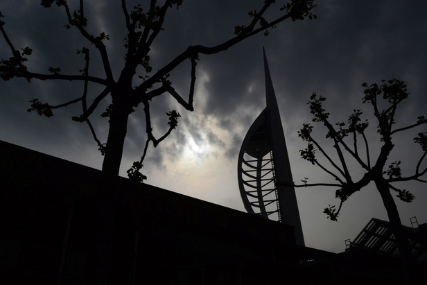 Artistic Photography Gallery - Picture of Silhouetted Spinnaker Tower in Portsmouth, U.K.  Photo Credit: Gale Punay, Contributor's Gallery Winning Submission to FreePhotoCourse.com, all rights reserved.